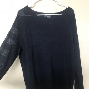VINCE Striped Sweater M navy blue
